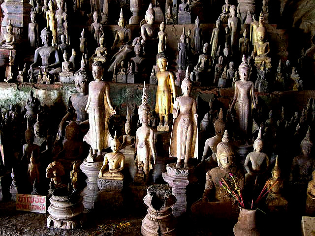 Tourist Attractions in Laos pak ou caves