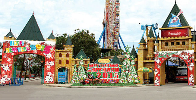 christmas at Ho Tay Water Park