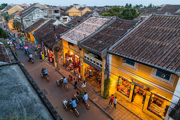 on the streets of old town Hoi An